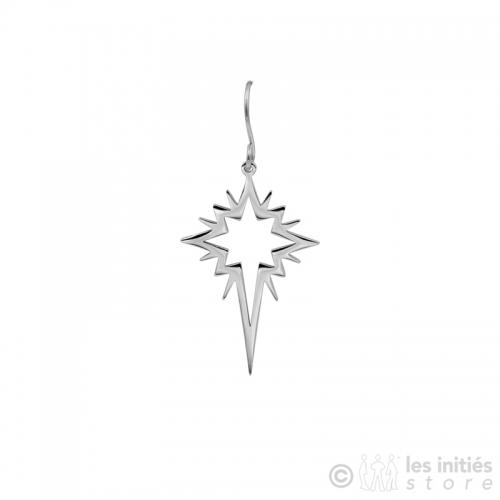 trendy polar star earrings