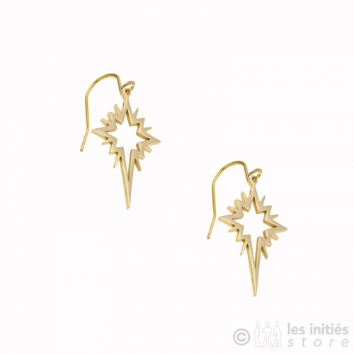 boucles d'oreilles étoile dorées