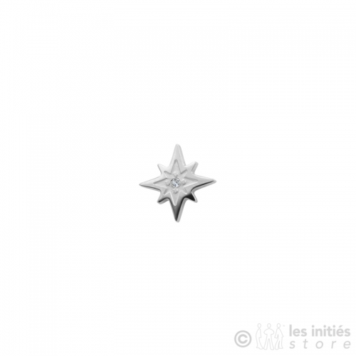 small star stud with rhinestone