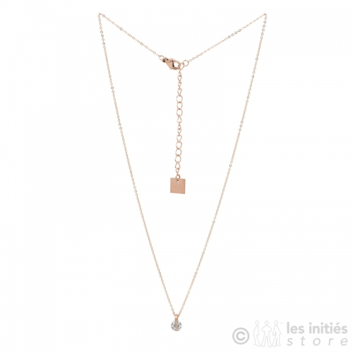 best crystal pendant necklace rose gold