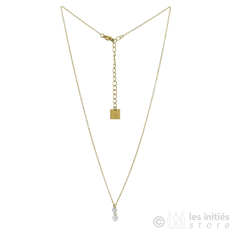 collier zag bijoux double cristal