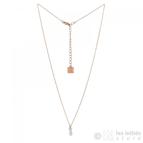 double strass necklace rose gold