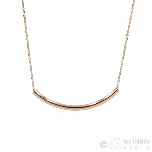 collier moderne doré rose