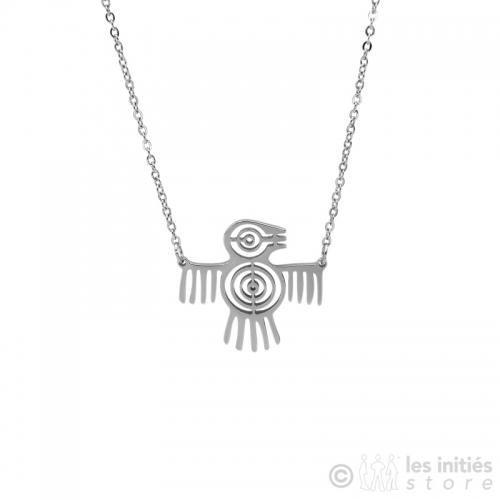 collier oiseau maya