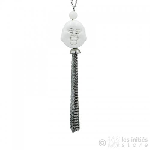 collier bouddah style ivoire