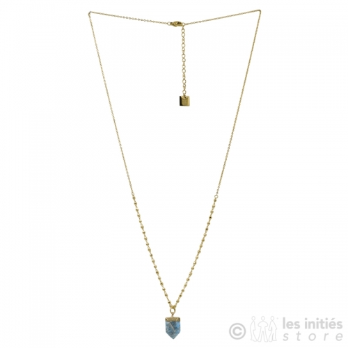 collier pierre bleur claire