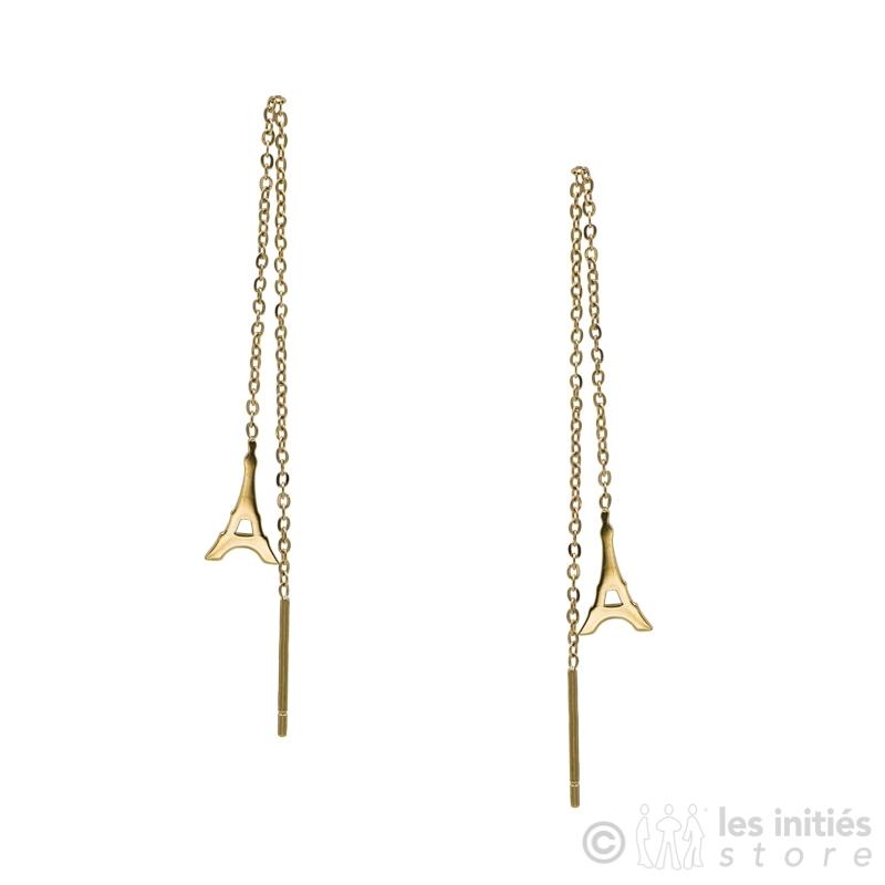 boucles d'oreilles chaîne pendantes