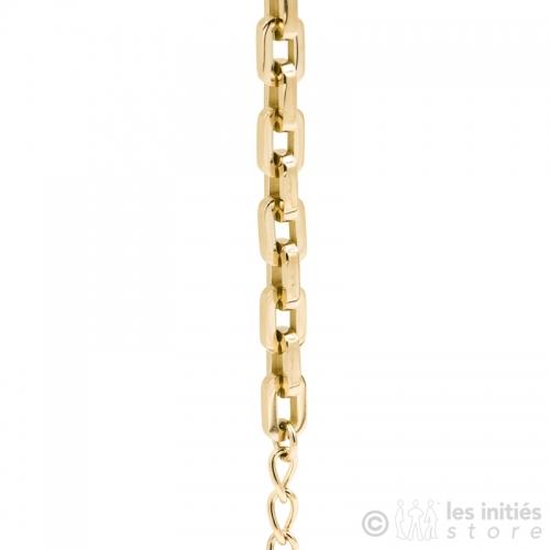 Bracelet chaine dorée