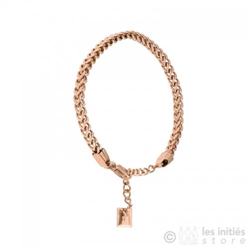 bracelet zag bijoux doré rosé tendance