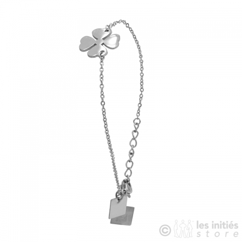 lucky charm clover bracelet