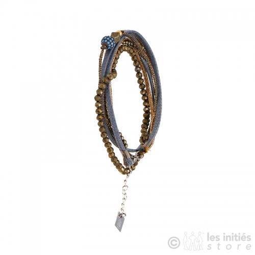 bracelet travaillé zag bijoux