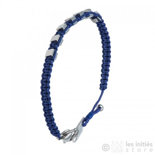 Bracelet homme perles carrés