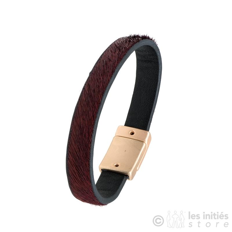 bracelet poulain bordeaux