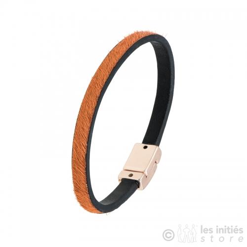 bracelet poulain orange