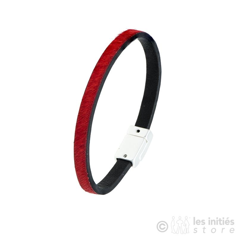 bracelet poulain rouge et noir