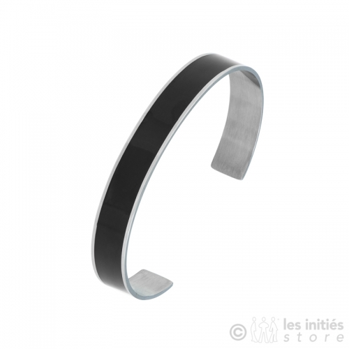 black enamel rigid bracelet