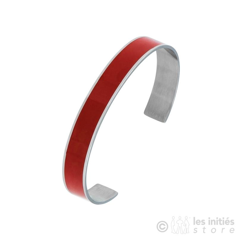 bracelet rigide émaille rouge