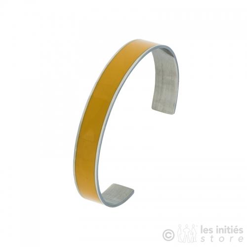 bracelet émaillé jaune