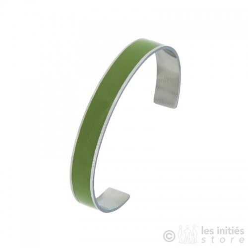 bracelet émaillé vert