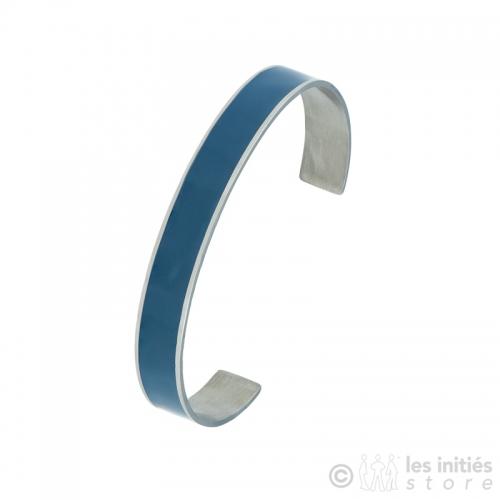 bracelet rigide émaillé bleu