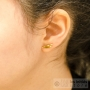 petite plume boucle d'oreilles