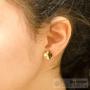 boucles d'oreilles petit trèfle