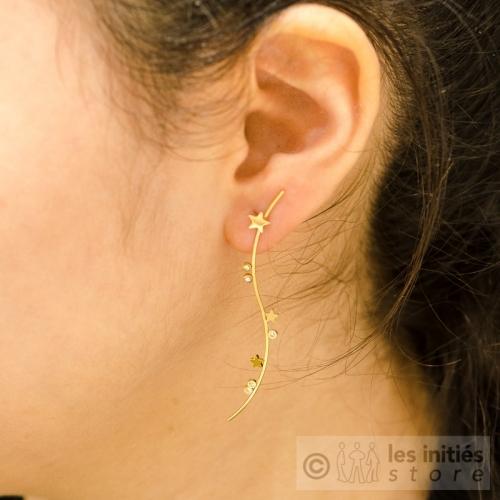 tiny stars pendant earrings