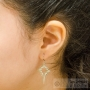 trendy shepherd's star earrings