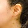 boucles d'oreilles menottes chaîne