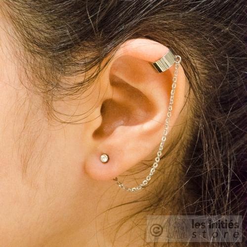 boucles d'oreilles clip oreille