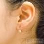 boucles d'oreilles tige et strass