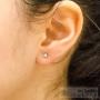 sparkling stud earring