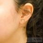 boucles boucles d'oreilles petit strass serti