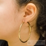 6 cm circle earrings