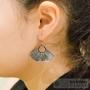 boucles d'oreilles feuilles originales