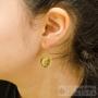 Boucles d'oreilles Zag bouddha rosées