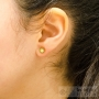 6 sides rhinestone stud earrings