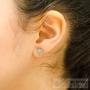petites boucles d'oreilles pierres turquoises