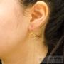 boucles d'oreilles petites chaînes