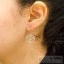 anallergic tree of life earrings silver