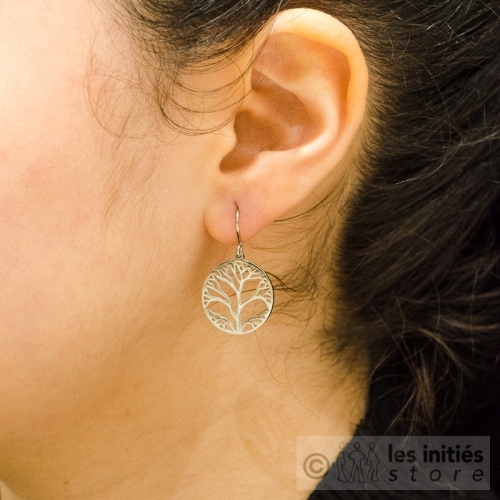anallergic tree of life earrings silver