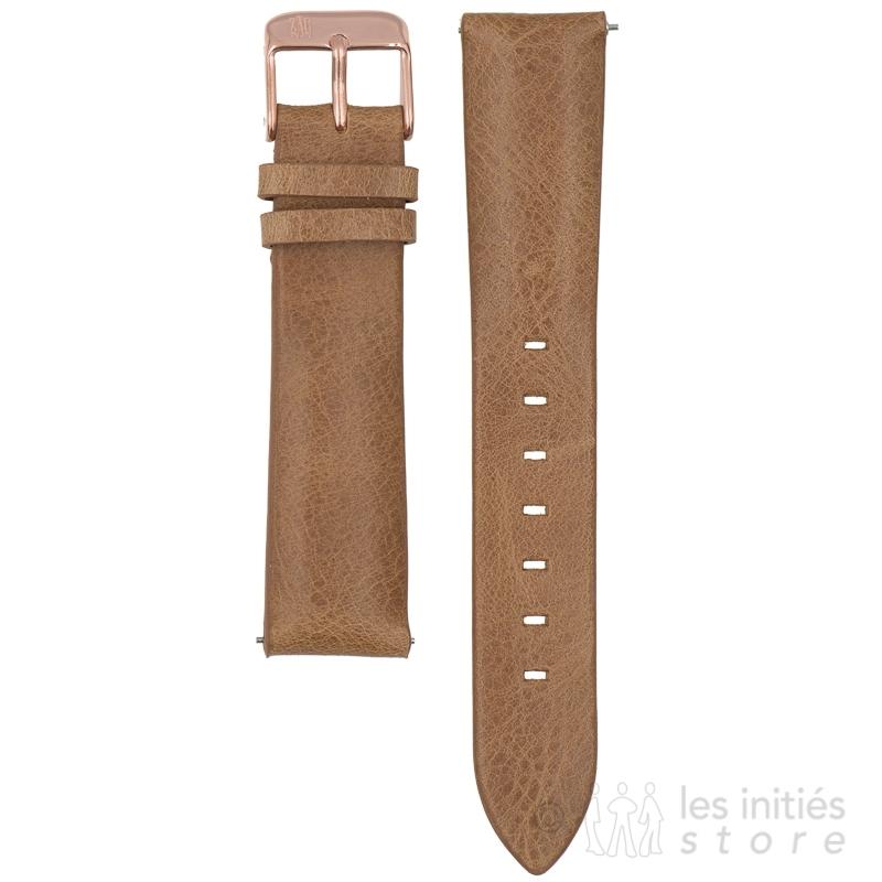 Bracelet montre cuir craquelé