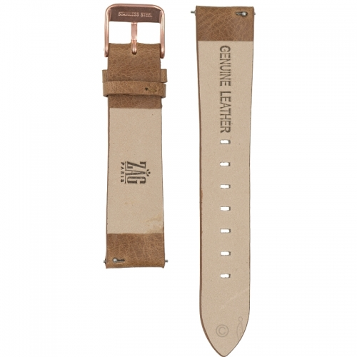 watchband brown cracked leather rose gold