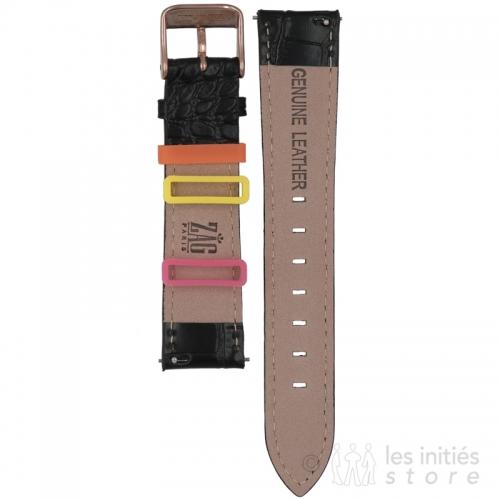 bracelet montre Zag Bijoux croco