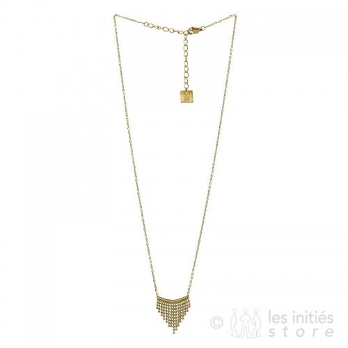 gold fringe necklace
