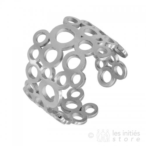 caviar ring silver
