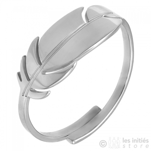 free size silver ring