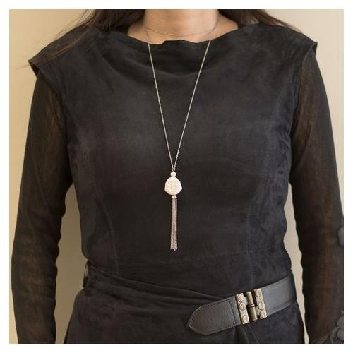 Buddha necklace worn