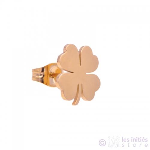 Boucles puces dorées rosées