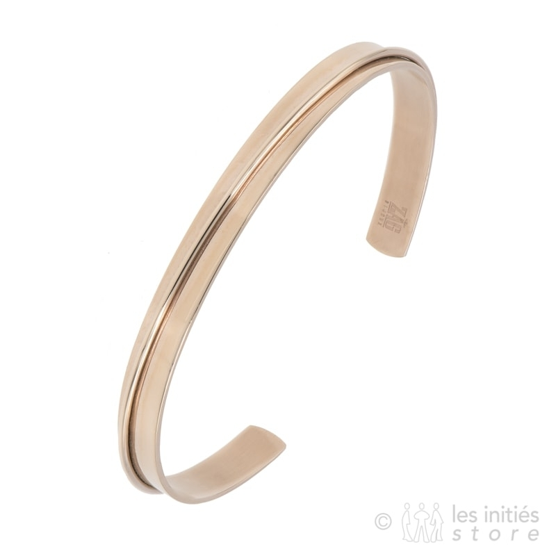 rigid bangle pink gold